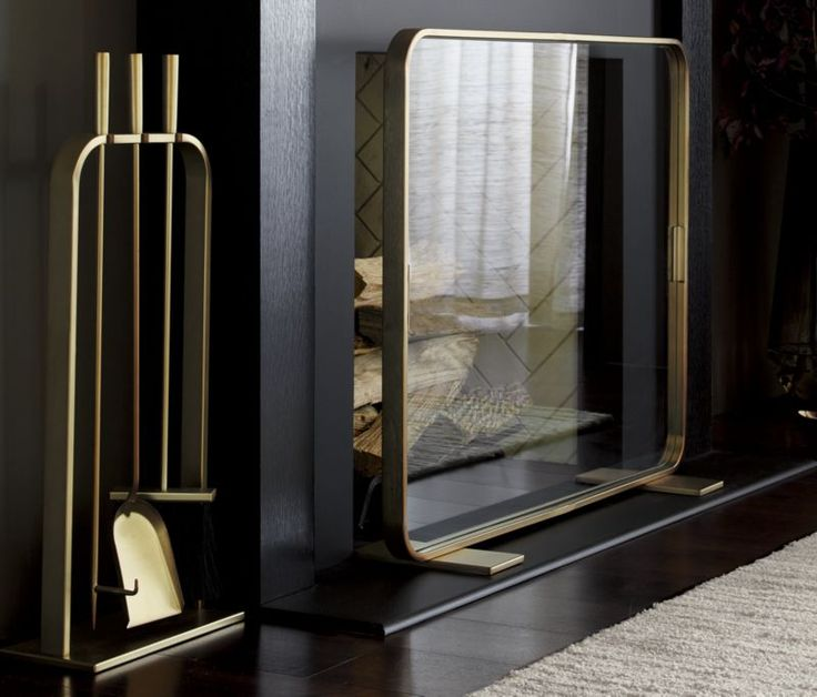 Lana Fireplace Screen & Accessories from Crate and Barrel