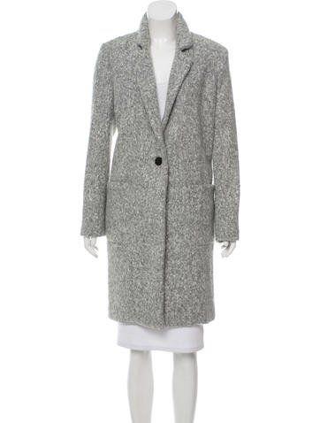 Single-Button Knee-Length Coat w/ Tags