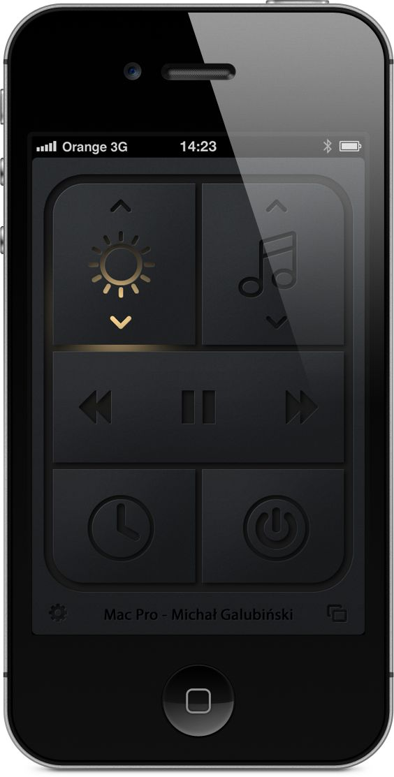 simple mac remote #ui #app #iphone #dark #interface