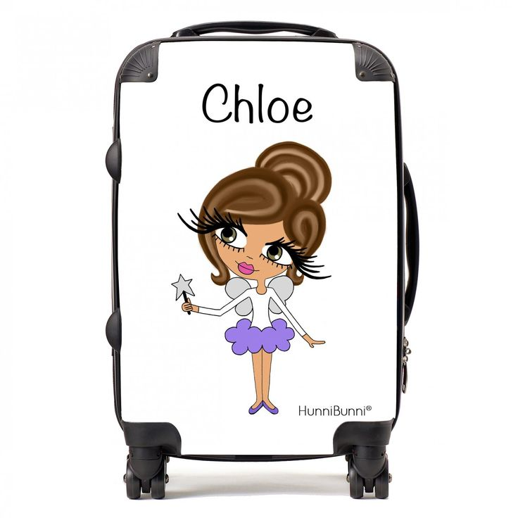 HunniBunni Little Miss White Personalised Suitcase