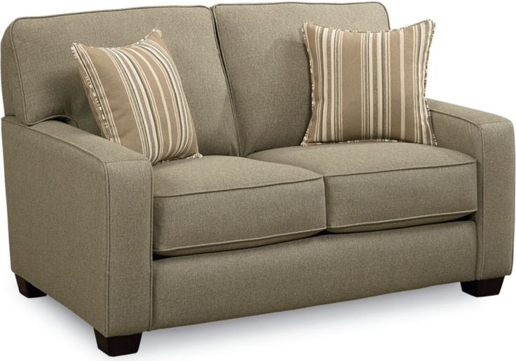 Ethan Sleeper Loveseat Sofa, Full   Your friends and family will appreciate the comforts of the Ethan Sleeper Sofa, Full. It unfolds to reveal a sleeper with the innovative iRest™ mattress. The Ethan offers a three-over-three frame with straight-line track arms. It's a great contemporary look with sleek style and is available in both fabric and leather