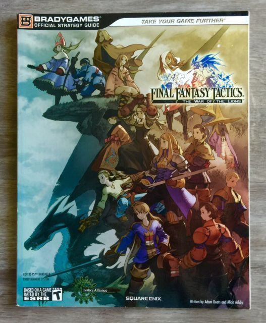 Final Fantasy Tactics The War Of The Lions Official Strategy Guide Book | eBay