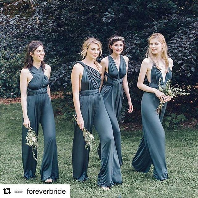 Brides and bridesmaids what do you think about these Infiniti  jumpsuits? I want to hear your thoughts! Comment below!  .  .  .   #Repost @foreverbride  ・・・  #regaleventdesigns #houstonweddingplanner #houstonweddings #ootd #weddingfashions #weddingfashion #bride #ighouston #instahouston #fashion #weddings #romantic #nontraditional #weddingguest #quechuli #damasdehonor #boda