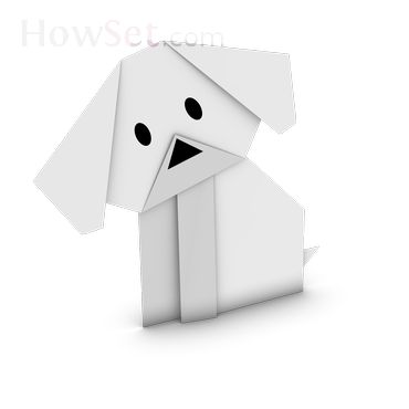 Puppy: Animals: How to make Origami