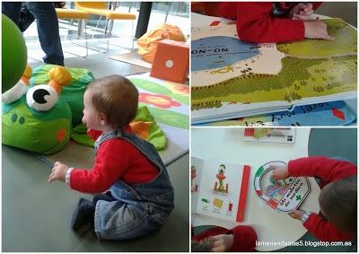 Niños en la biblioteca Eugenio Trias. Babies library