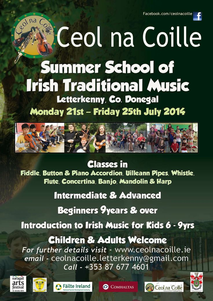 Poster for Ceol na Coille Letterkenny