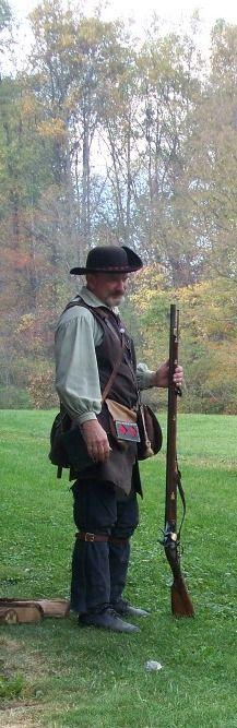 Tom Carson, volunteer, re-enactor
