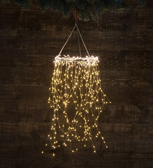 Centrepiece light decoration a tumbling circle of lights to hang in your hallway or above