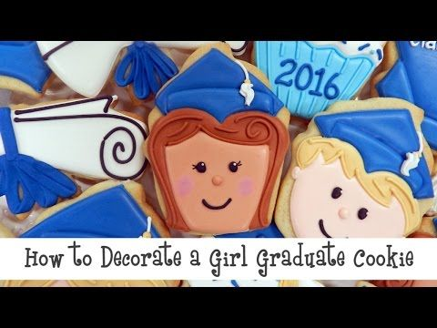 GIRL GRAD TUTORIAL! Flour Box Bakery — How to Decorate a Happy Graduate Cookie