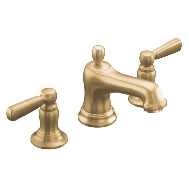 kohler k105774bv vibrant brushed bronze bancroft widespread lavatory faucet with