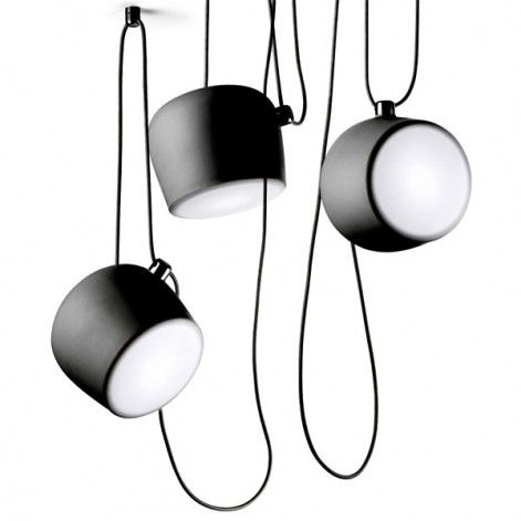Aim hanglamp set LED zwart
