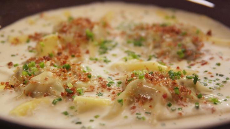 Ravioli van kip en champignons - Wout Bru @ De keuken van Sofie