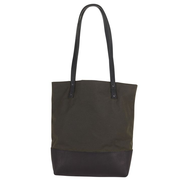 Sarah Baily | George Tote Bag - Black leather / waxed cotton