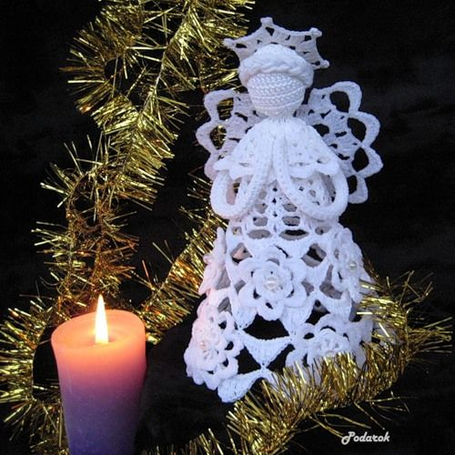 "Christmas Angel-Click Translate from Russian. Go to ""Angels"" category. Click on pages under photo to enlarge charts on site- www.podaroknatka.blogspot.be"
