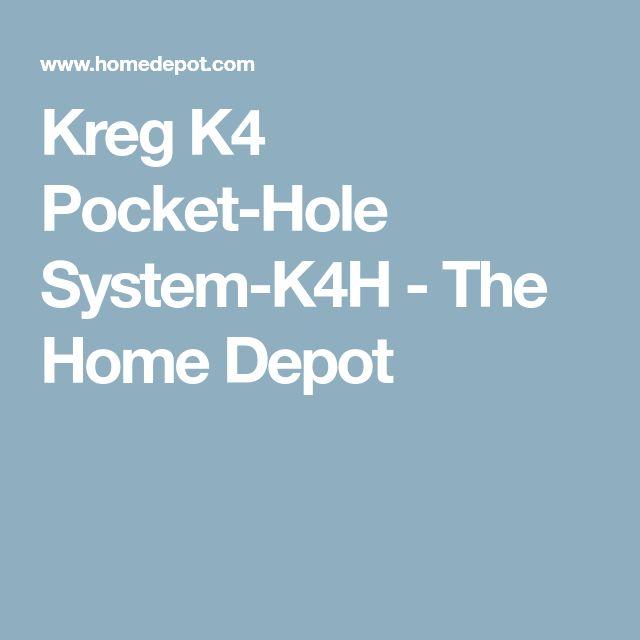 Kreg K4 Pocket-Hole System-K4H - The Home Depot