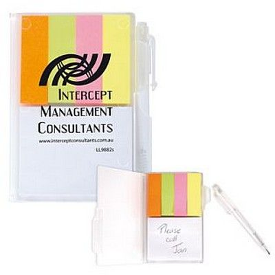 Branded Pocket Notepad & Noteflags w/Pen Min 250 - Promotional Giveaways - Custom Notepads - GO-98821s - Best Value Promotional items including Promotional Merchandise, Printed T shirts, Promotional Mugs, Promotional Clothing and Corporate Gifts from PROMOSXCHAGE - Melbourne, Sydney, Brisbane - Call 1800 PROMOS (776 667)