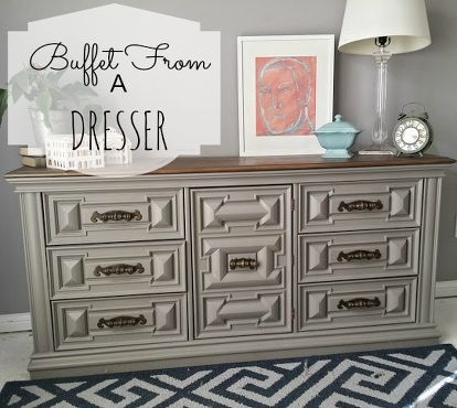 How To Turn A Dresser Into Functional Buffet