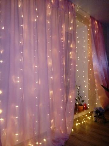 300 LED Window Curtain String Light Wedding Party Home Garden Bedroom Outdoor Indoor Wall