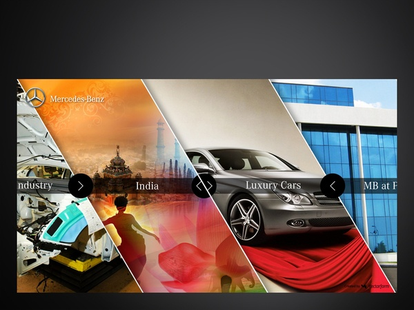 Mercedes Benz India // Interactive Presentation by Rineesh Othayoth, via Behance