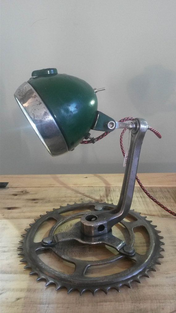 Upcycled Bicycle Lamp by Bauckham Designs