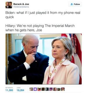 Funniest Memes of Biden and Obama Pranking Trump: The Imperial March