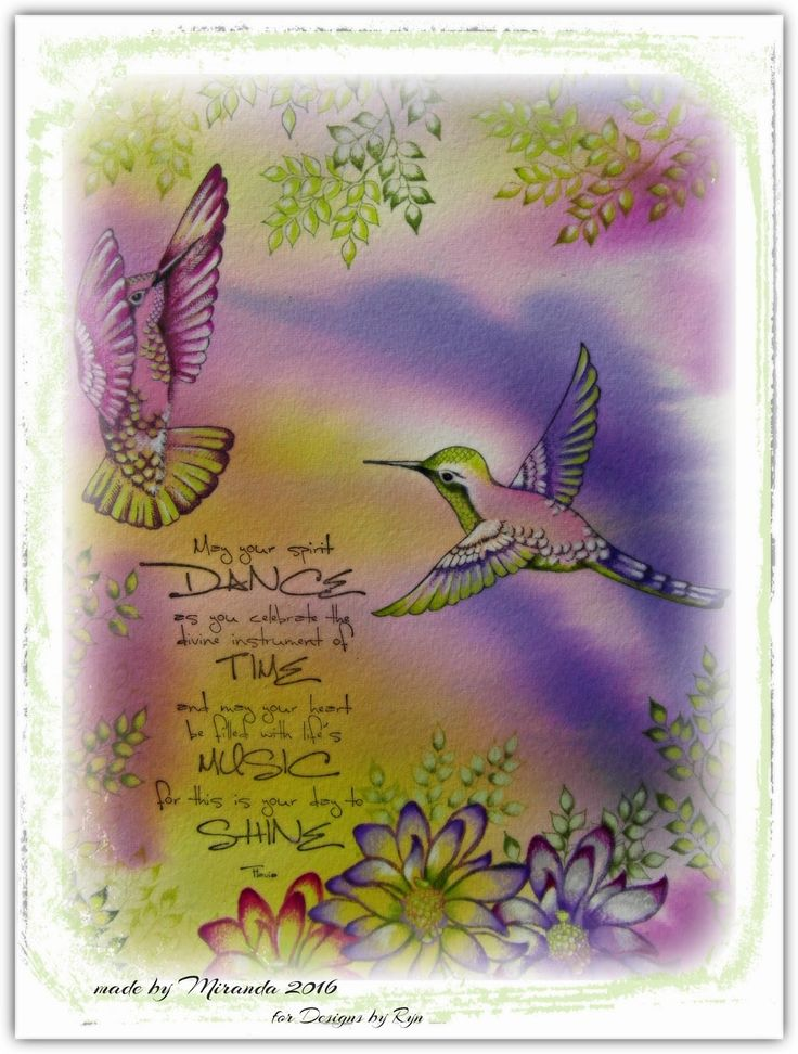 'Mir'acle Art Inspirations: Lovely Hummingbirds from Designs by Ryn......
