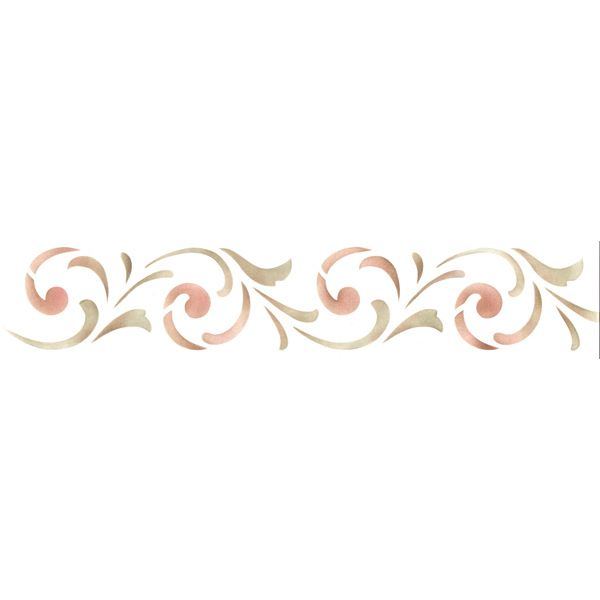 Border Stencils | Simple Scroll Border Stencil | Royal Design Studio