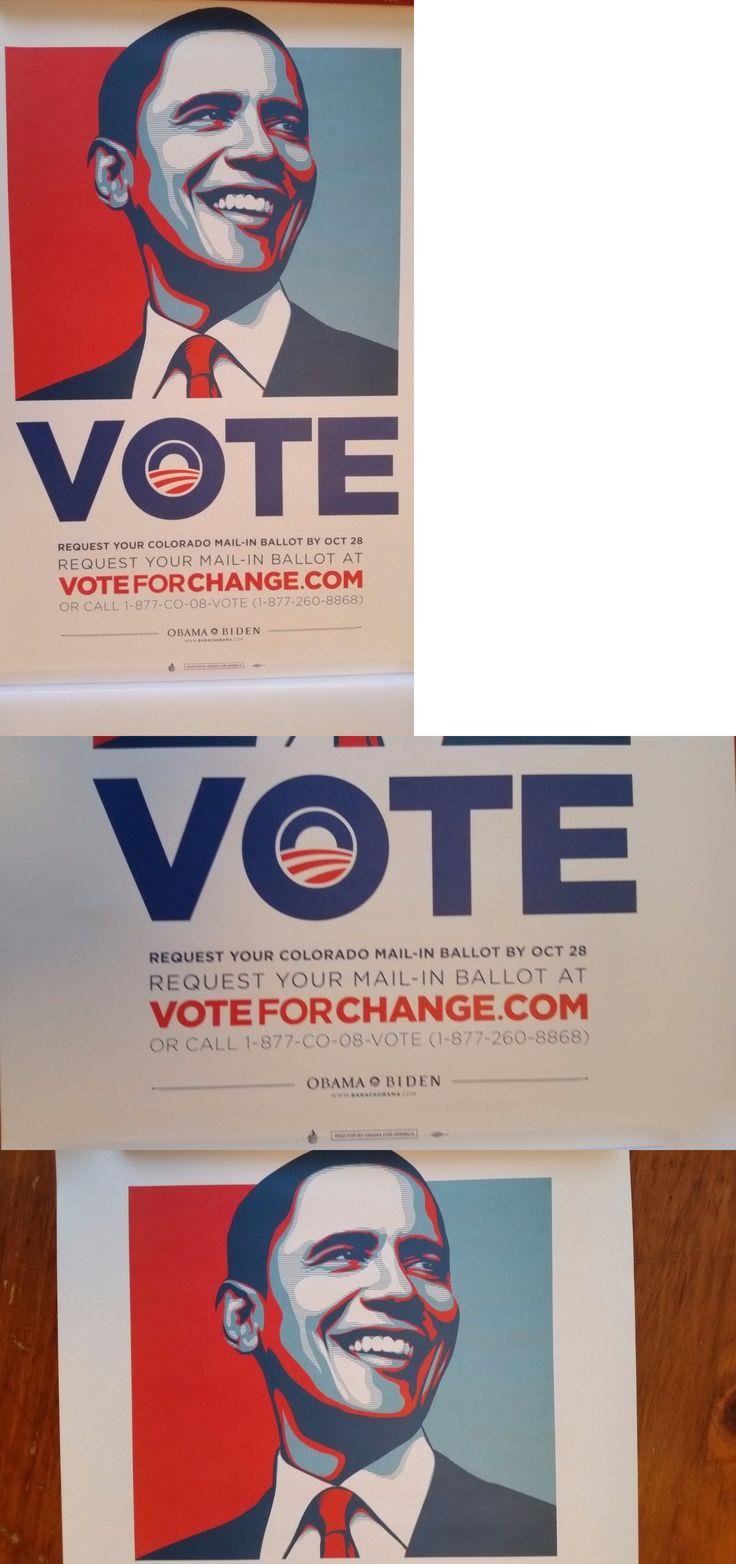 Barack Obama: Barack Obama 2008 Vote Colorado Campaign Poster Shepard Fairey Biden Print 18X24 -> BUY IT NOW ONLY: $59.95 on eBay!