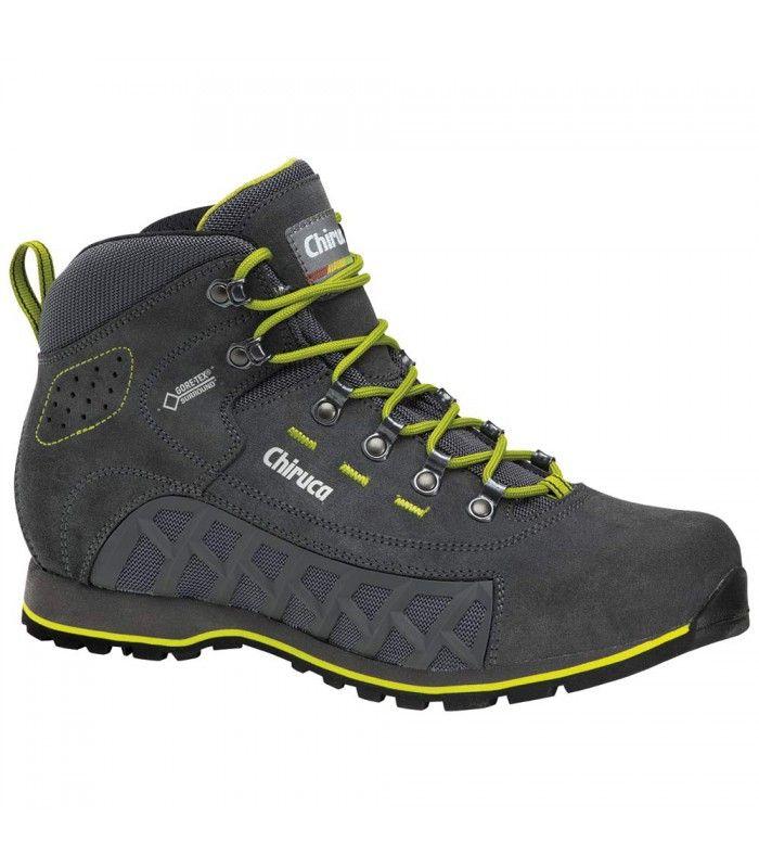 Las botas de Montaña Chiruca Hurricane GoreTex Surround Hombre fabricadas en nobuck (cuero pulido) combinando  cordura. http://www.shedmarks.es/botas-montana-y-trekking-hombre/3536-botas-chiruca-hurricane-goretex-surround.html
