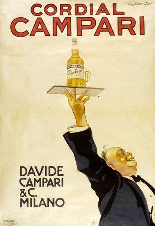Cordial Campari. Vintage Poster.