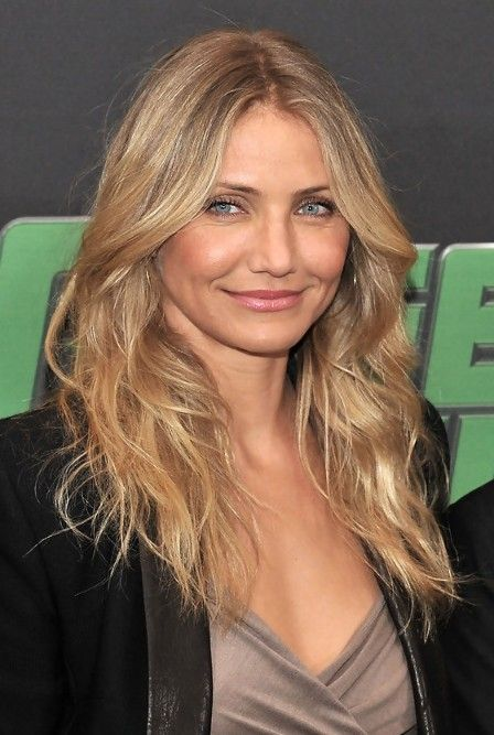 Cameron Diaz Layered Long Hairstyle for Mature Ladies - Hairstyles Weekly