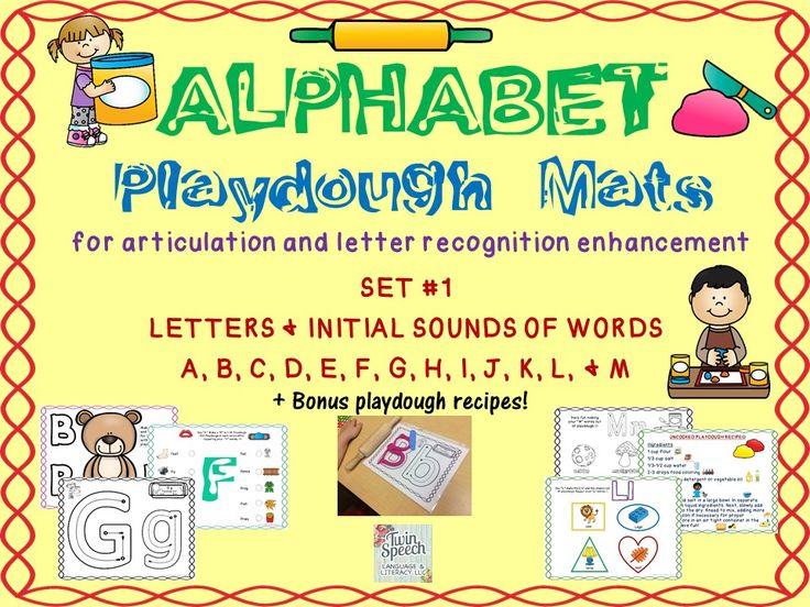 New Alphabet Playdough Mats For Articulation Amp Letter