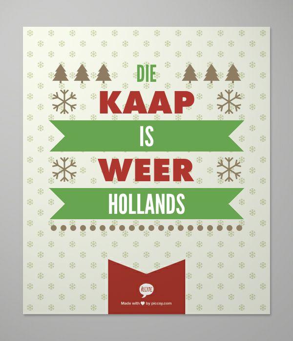 Die Kaap is weer Hollands