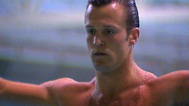Jason Statham dives at 1990 Commonwealth Games
