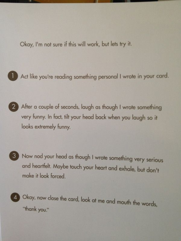 Best birthday card ever! YES! Doing this :D