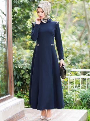 Lacivert Uzun Elbise Tesettür elbise, #tesettür #abiye #elbise Diğer tesettür elbiseler için lütfen tıklayınız...