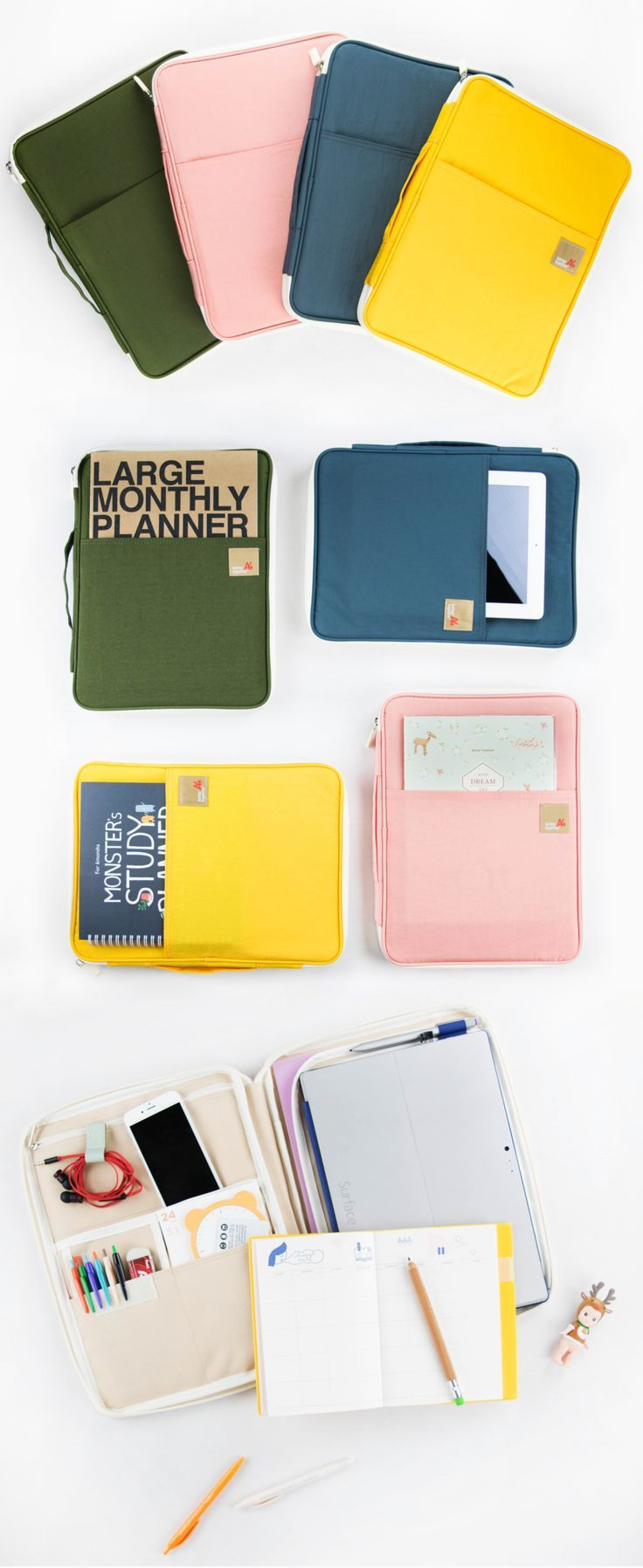 """Need a new way to stay organized this school year? The Better Together Note Pouch v5 is the best way to organize all your school supplies and devices in one neat accessory. Hold your iPad, notebooks, assignments, pens, sticky notes, and more in this cute pocket-filled carry all! It can even fit a 13"""" Macbook Pro in the main compartment! Zip up your study must haves in this portable pouch and head over to class or the library. This all in one organizer will help you succeed, so go check it…"""