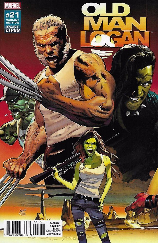 Marvel Wolverine Old Man Logan comic issue 21 Limited  variant