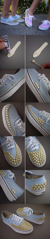 Personaliza tus zapatillas - honestlywtf.com - DIY Studded Sneakers