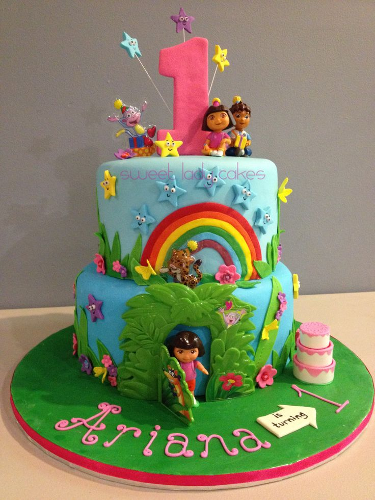 Dora The Explorer Cake For A 1st Birthday Party Sweet