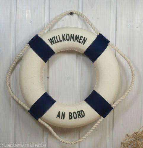 Rettungsring 36cm blau/weiß für die maritime Dekoration