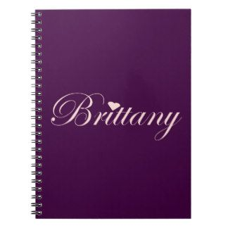 Brittany with a Heart Note Book. Eye catching pink and purple note book. great accessory for school, home or  purse. $14.95