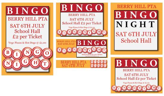 Bingo Night - Published PTA Templates and Poster Kits