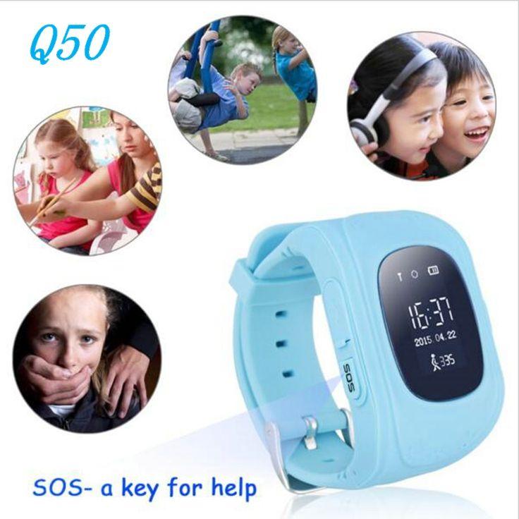 2016 Q50 GPS Tracker Menonton Untuk Anak-anak SOS GSM Ponsel App Untuk Android Darurat Anti Hilang GSM Cerdas Gelang Wristband Alarm