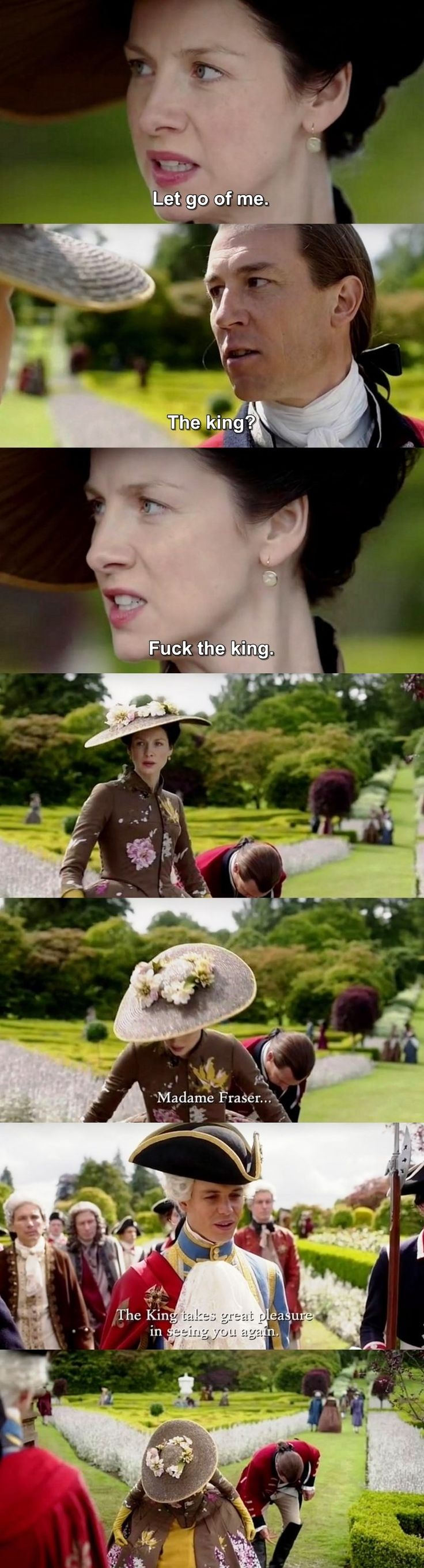 """""""Fuck the King"""" - Claire, Jack Randall and King Louis #Outlander"""