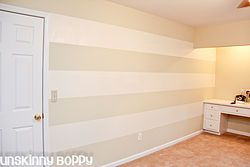 My lazy girl's guide to painting striped walls
