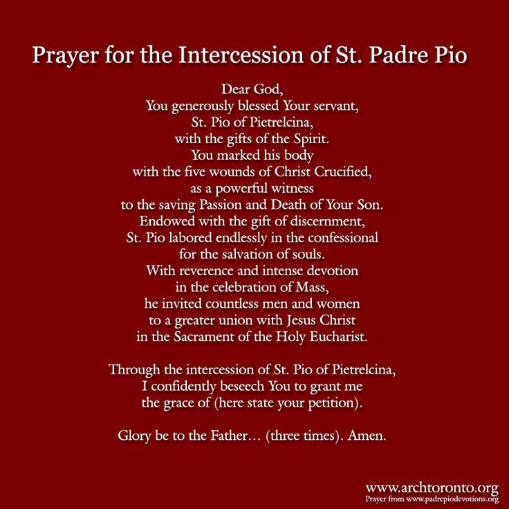 Prayer for the feast day of St. Padre Pio