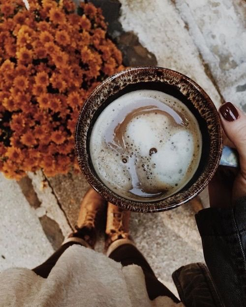 Imagen de autumn, coffee, and leaves