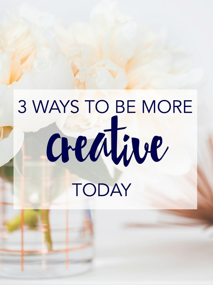 Want to be more creative? It's a skill, not a talent, so you can - today! Click through to learn how you can be more creative today.