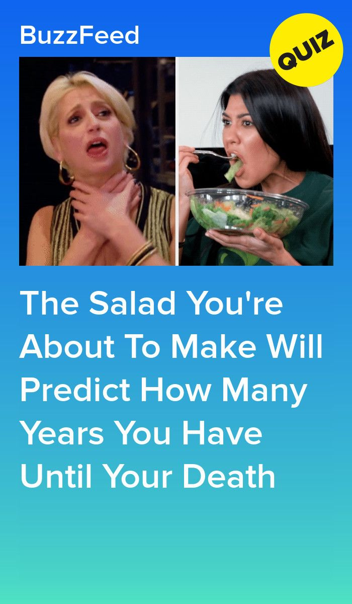 Make A Salad And We'll Tell You How Long You Have Left To